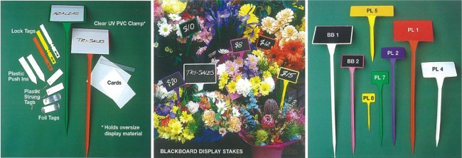 display stakes and plant identification tags